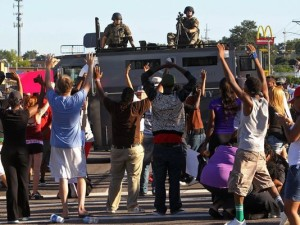 fergusonprotesterspolice