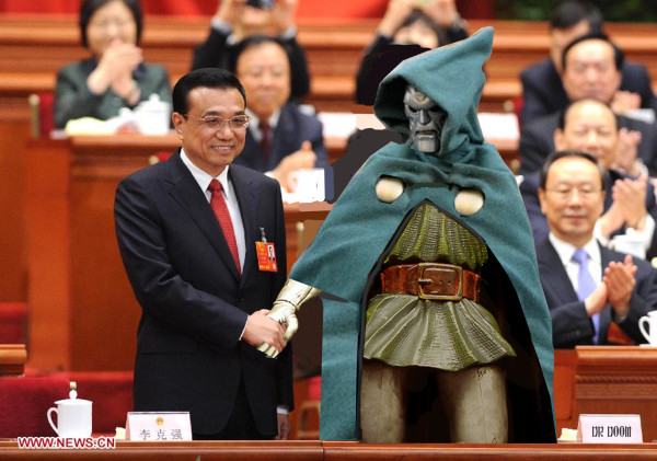 Doom has frequently praised the efficiency of China's parliament in previous visits
